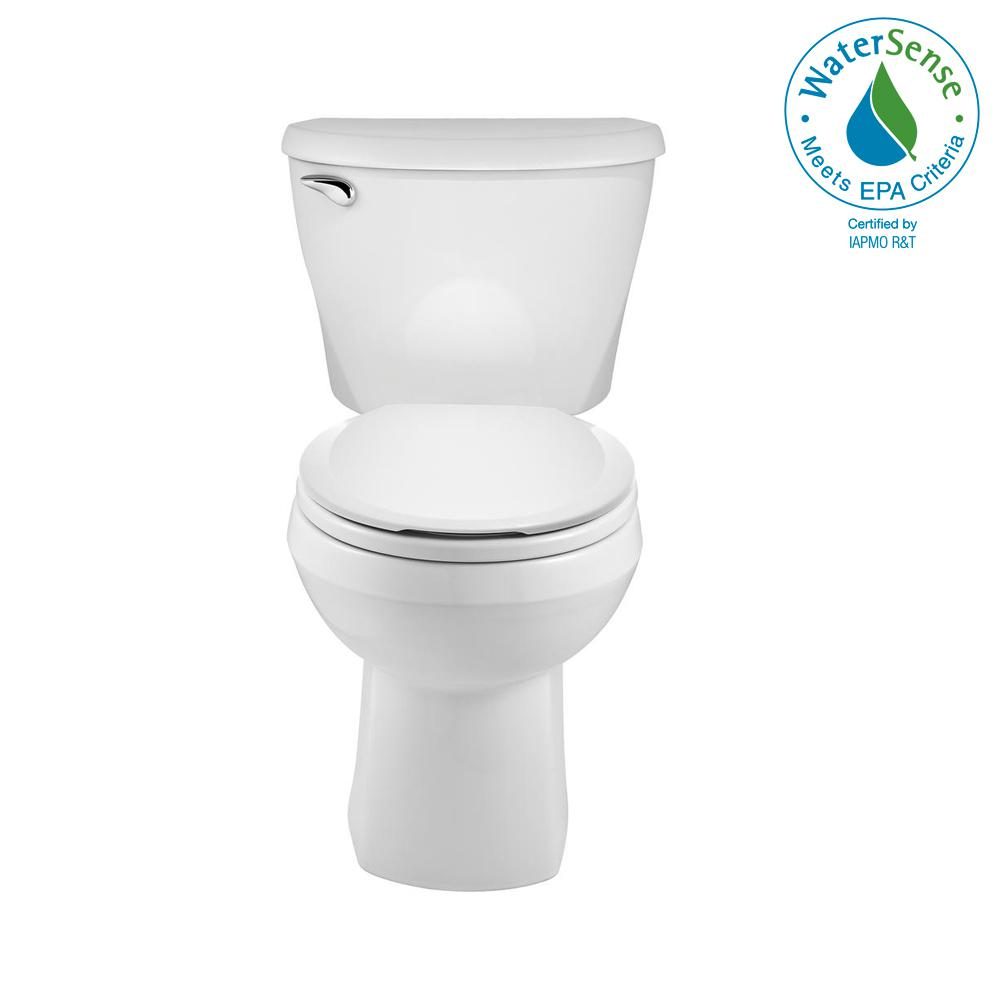 Reliant 2-piece 1.28 GPF Single Flush Round Toilet in White with Slow Close Seat