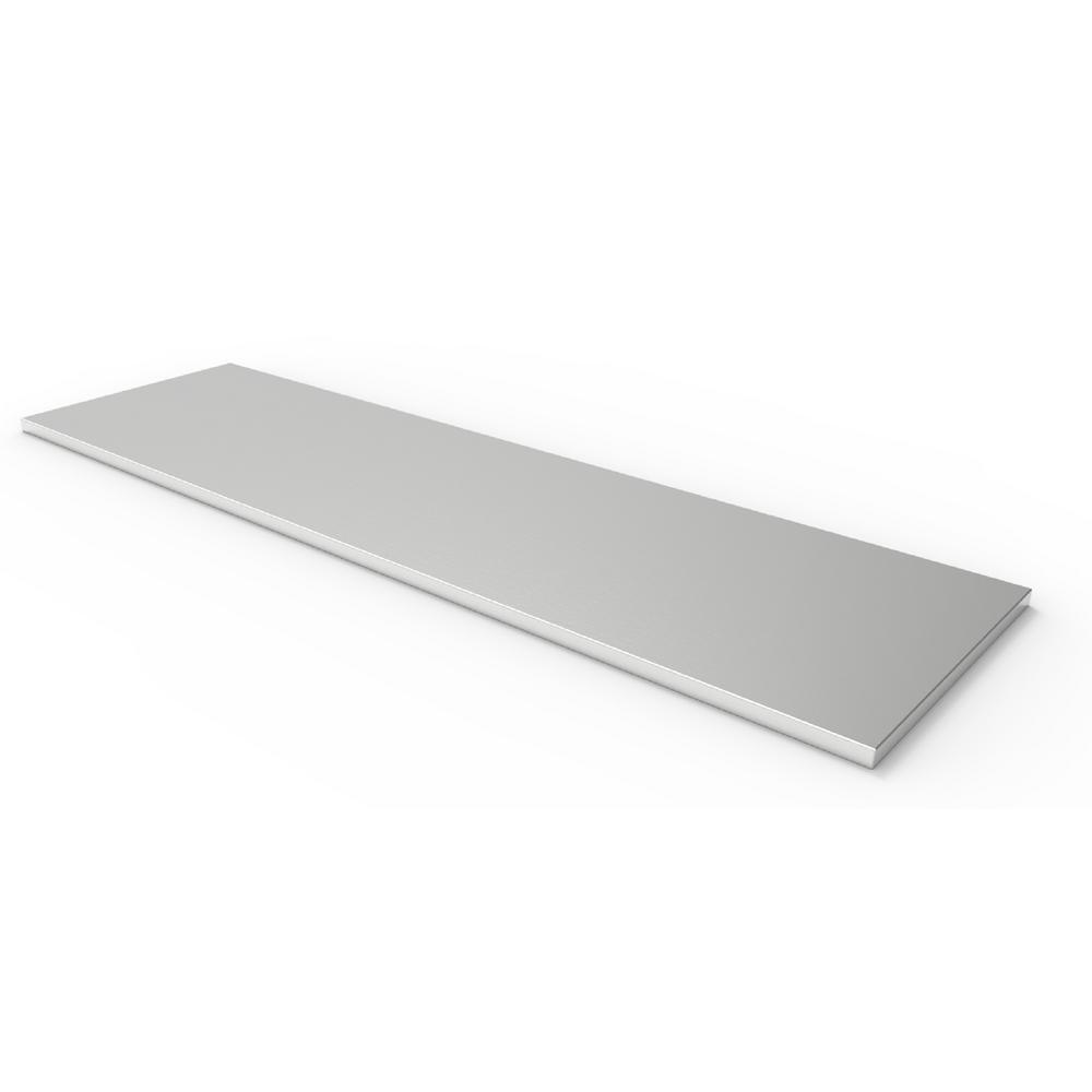 Performance Plus Series 84 in. W x 1.25 in. H x 24 in. D Stainless Steel Work Top