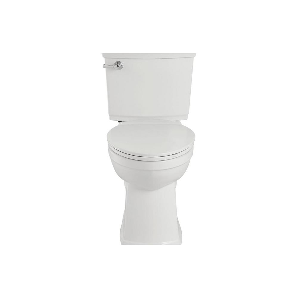 VorMax Plus Tall Height 2-Piece 1.28 GPF Single Flush Elongated Toilet in White with Slow Close Seat