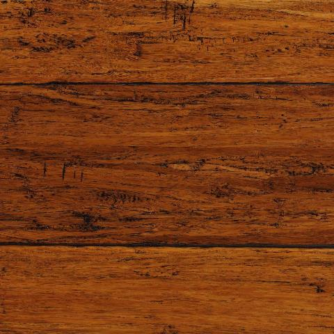 Hand Scraped Strand Woven Harvest 3/8 in. T x 5-1/8 in. W x 36 in. L Engineered Click Bamboo Flooring