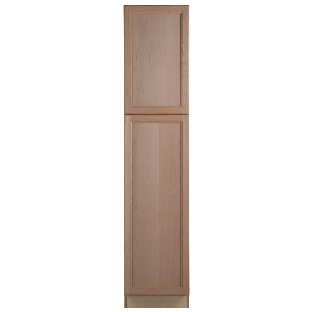 Easthaven Assembled 18 x 84 x 24.63 in. Pantry/Utility Cabinet in Unfinished German Beech