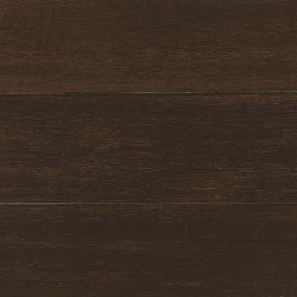 Hand Scraped Wire Brushed Strand Woven Chai 3/8 in. T x 5-1/8 in. W x 72 in. L Engineered Click Bamboo Flooring