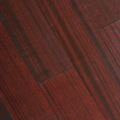 Matte Corbin Mahogany 3/8 in. Thick x 5 in. Wide x Varying Length Click Lock Hardwood Flooring (19.686 sq. ft. / case)