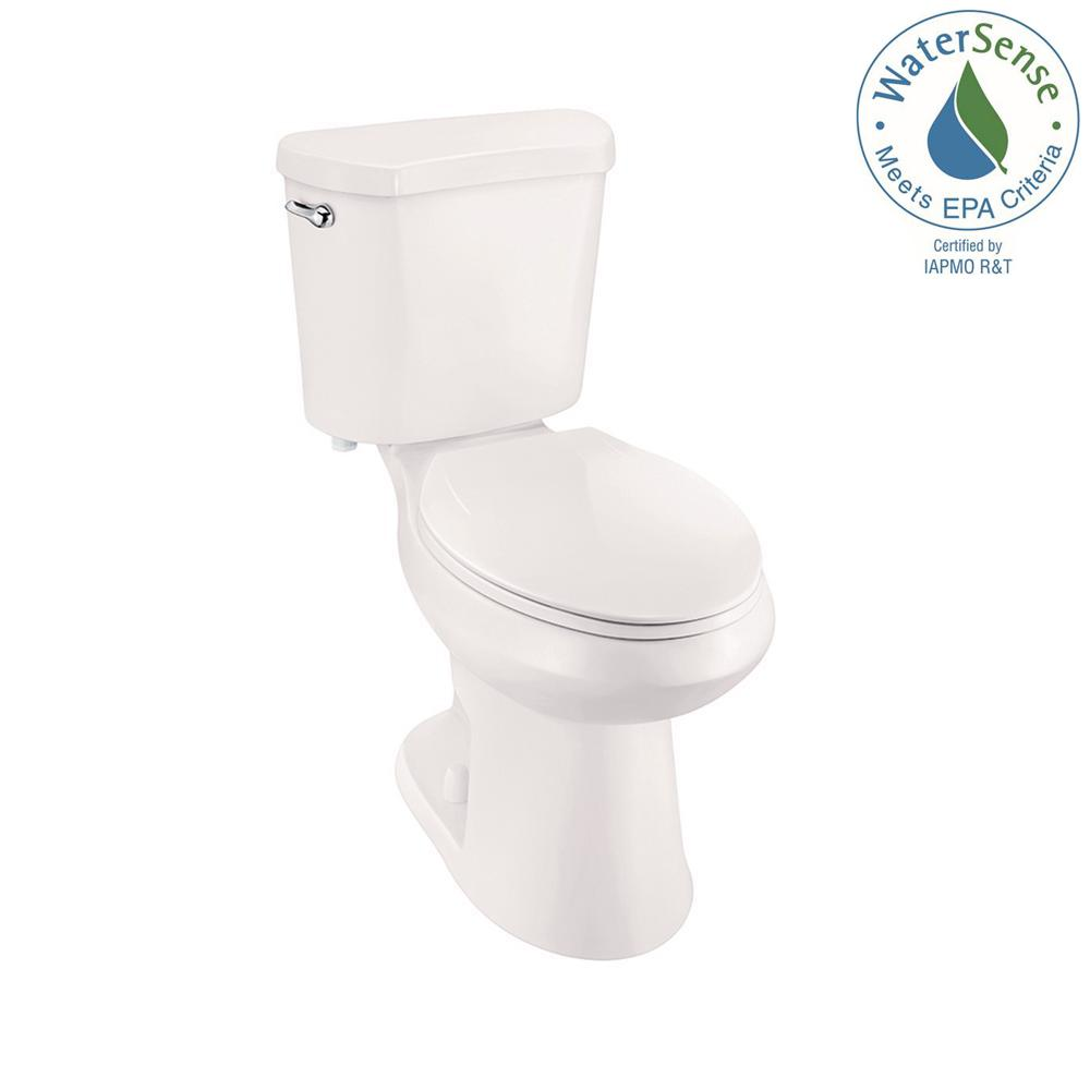 2-piece 1.28 GPF High Efficiency Single Flush Elongated Toilet in Bone