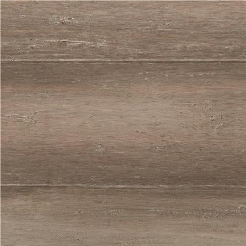 Hand Scraped Strand Woven Light Taupe 3/8 in. T x 5-1/8 in. W x 36 in. L Engineered Click Bamboo Flooring