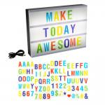 Cinematic Light Decorative Box Sign with Interchangeable Multi-Colored Letters and Symbols (85-Piece)